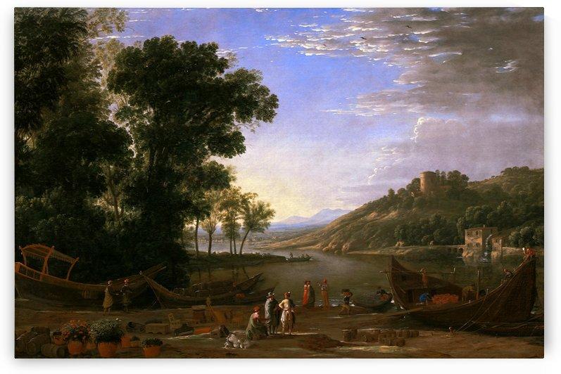 Landscape with Merchants by Claude Lorrain by xzendor7