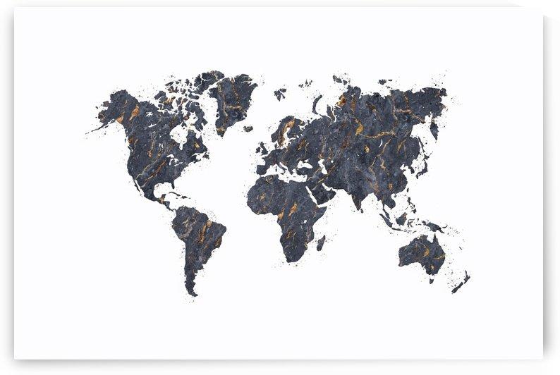 Artistic World Map VII by Art Design Works