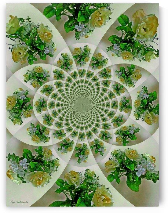 Floral Kaleidoscope Yellow by Faye Anastasopoulou