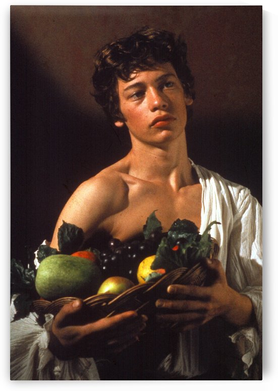 Man with fruits by Caravaggio
