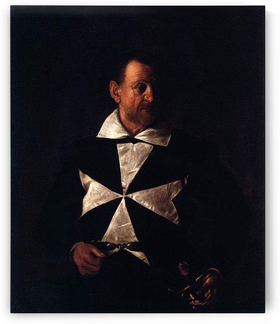 Portrait of a Maltese Knight by Caravaggio