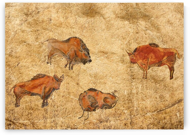 Rock cave paintings. Ancient painting. The first pictures of my ancestors.  by Radiy Bohem