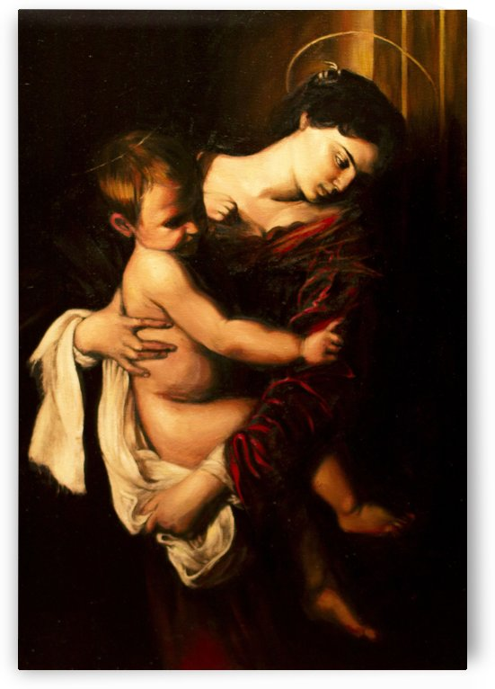 Virgin Mary and Child by Caravaggio