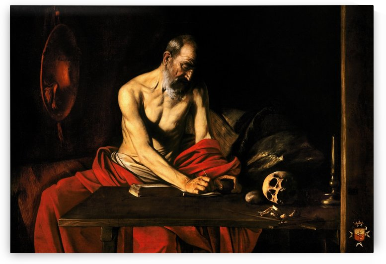 Saint Jerome writing by Caravaggio