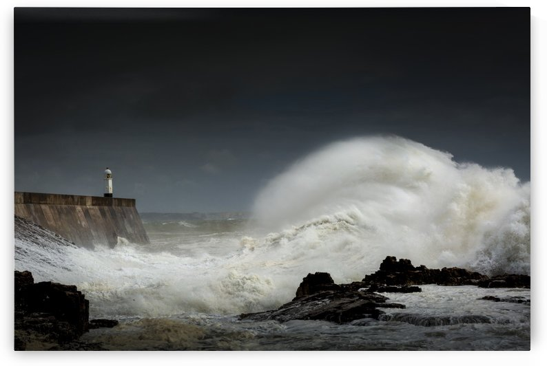Stormy sea at Porthcawl by Leighton Collins