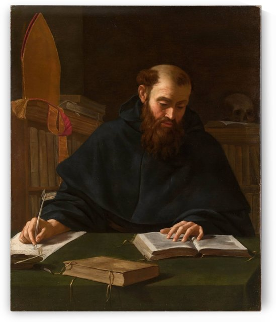 Saint Augustine in his study by Caravaggio