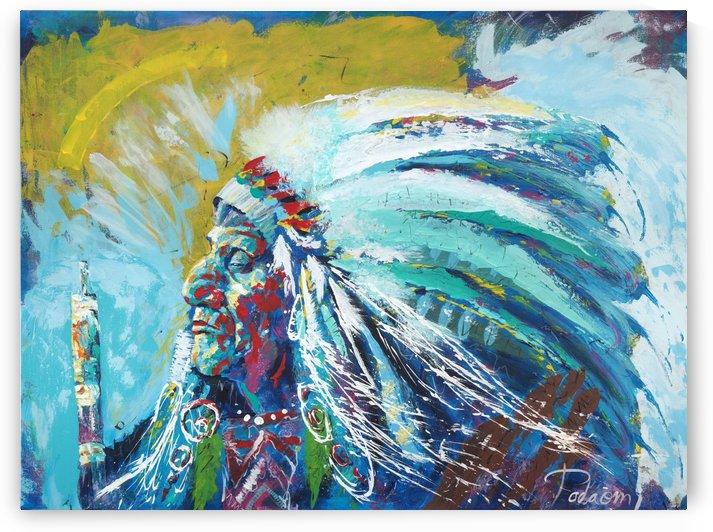 Native_american  Portrait Art - Tadaomi -l by Tadaomi Kawasaki