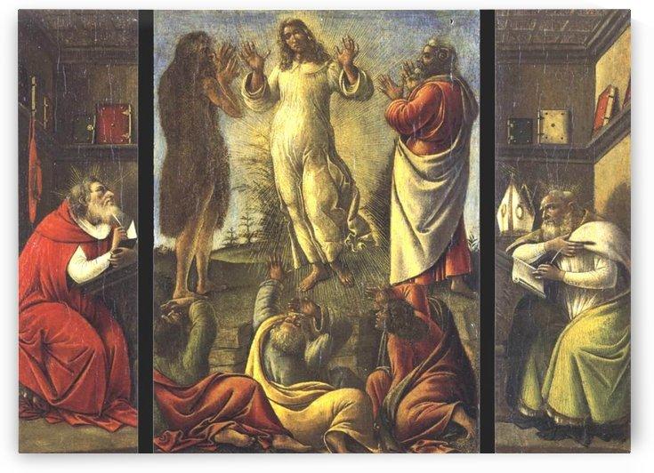 Transfiguration, St Jerome, St Augustine by Sandro Botticelli
