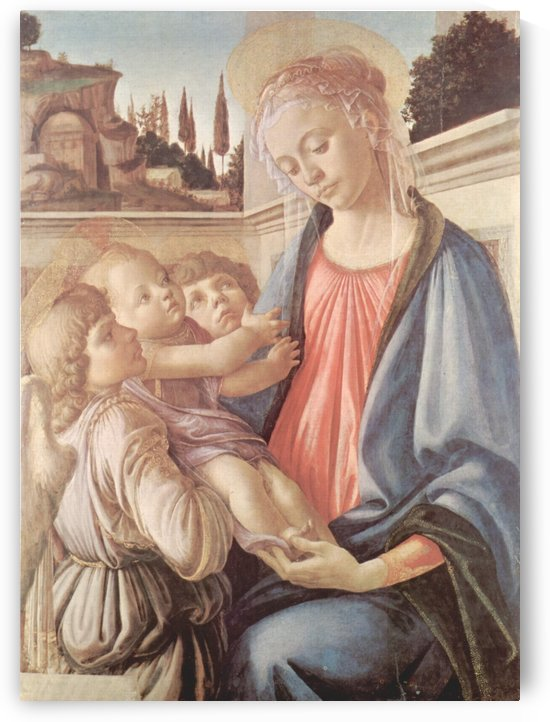 Madonna with two angels by Sandro Botticelli