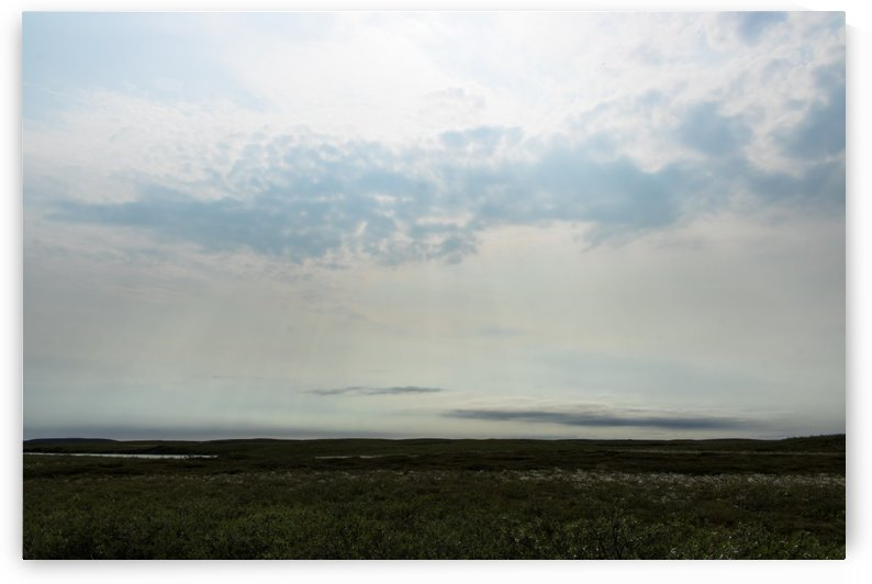 Bright sky in Tuktoyaktuk by Laurie Kindred