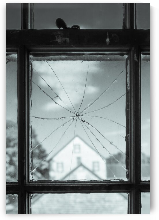 Cracked Window View by Dave Therrien
