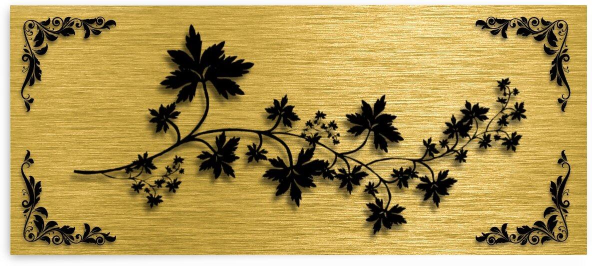 Gold illustration for interior decoration 3 by Radiy Bohem