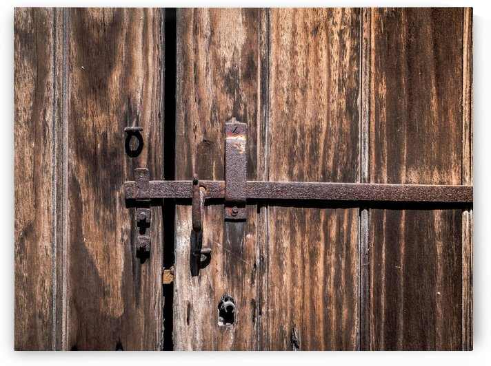 Old Gate with Rusty Lock by Art By Dominic