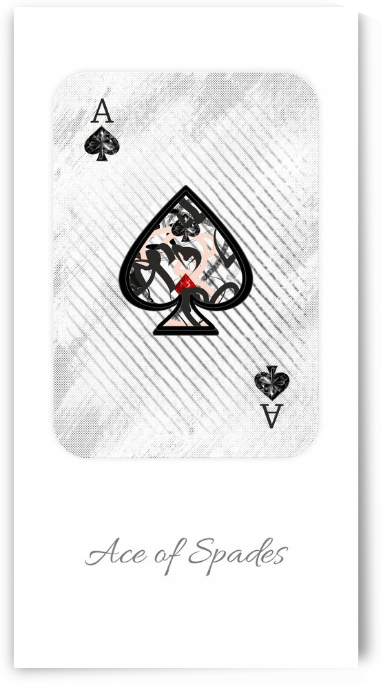 playing cards ace of spades by ANASTASIA SKARLATOUDI