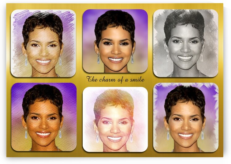 Halle Berry pop star celebrity  by Radiy Bohem