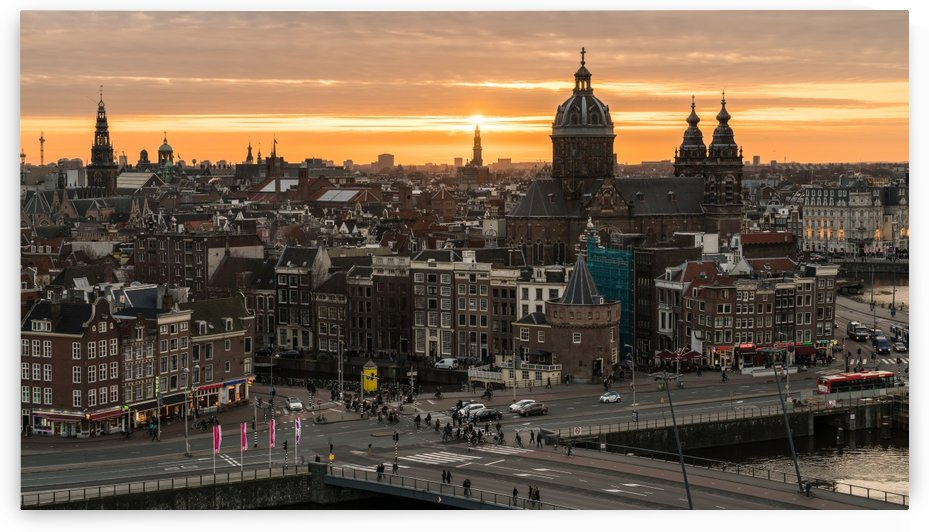 Amsterdam Skyline by Scott McQuaide