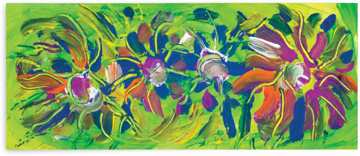 abstract multicolored flowers by BBS Art