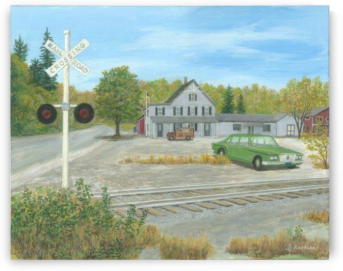 Hawleyville Scene - Newtown Scenes 16X20 by Rick Kuhn