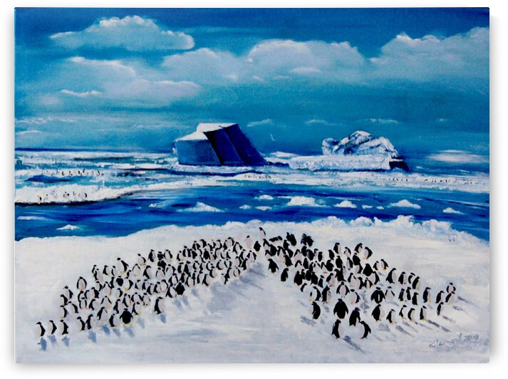 AO020 - Penguins in North Pole by Clement Tsang