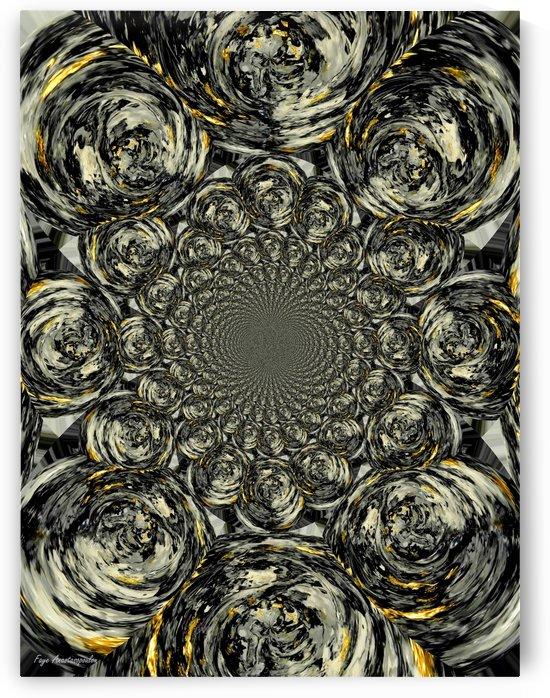 Psychedelic Vortex Silver by Faye Anastasopoulou