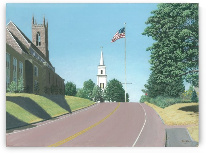 Church Hill Road - Newtown Scenes 12X16 by Rick Kuhn