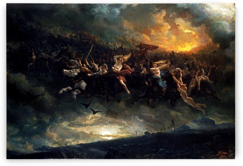 Wild Hunt of Odin by Nicolai Arbo by xzendor7