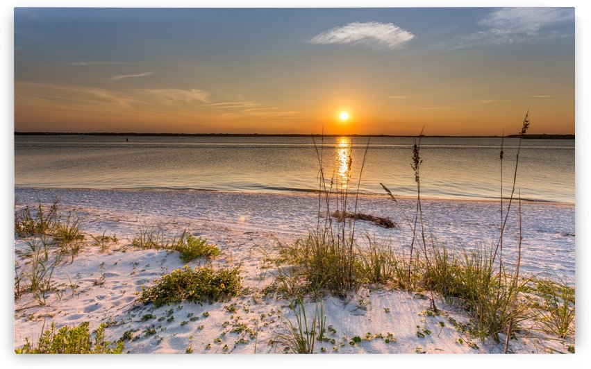 Sunset Beach Sand  by George Bloise