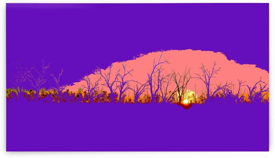 Lake Sunset - Purple by Lexa Harpell