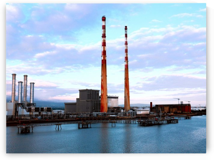 Dublins Poolbeg Chimneys by Lexa Harpell