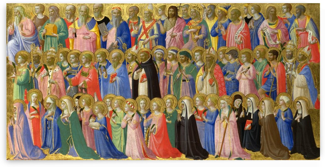 The forerunners of Christ with saints and martyrs by Fra Angelico