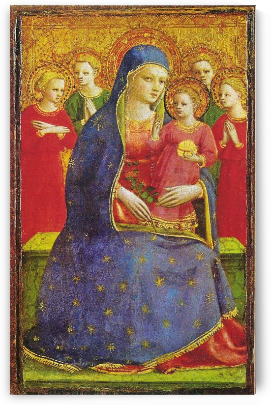 Virgin with the child and four angels by Fra Angelico