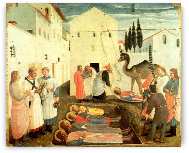 Burial of Saint Cosmas and Saint Damian by Fra Angelico