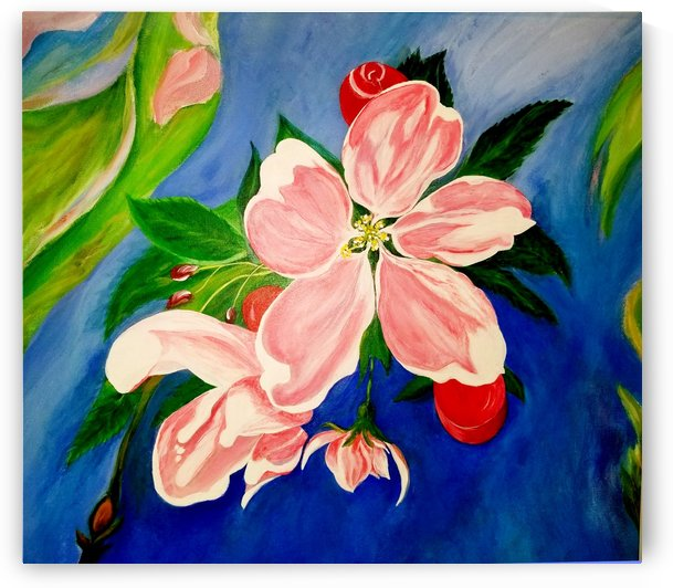 Apple Blossoms on Bloomingdale Dr. by Nicos Karousatos