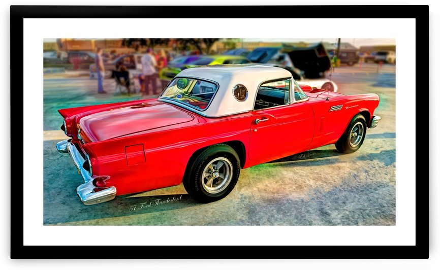1957 FORD THUNDERBIRD - HDR - PAINTING by Digicam