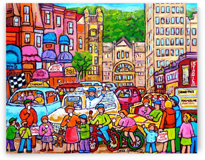 MONTREAL GRAND PRIX PAINTINGS by Carole  Spandau