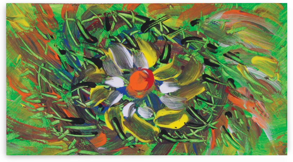 savage flower meadow abstraction by BBS Art