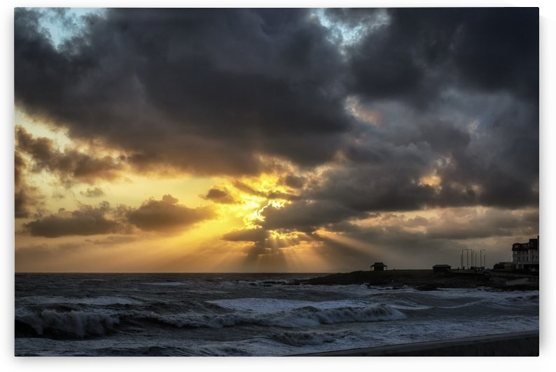Golden sunset at Porthcawl by Leighton Collins