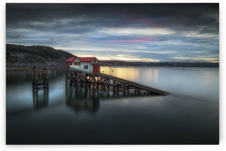 Dusk at the old lifeboat station by Leighton Collins