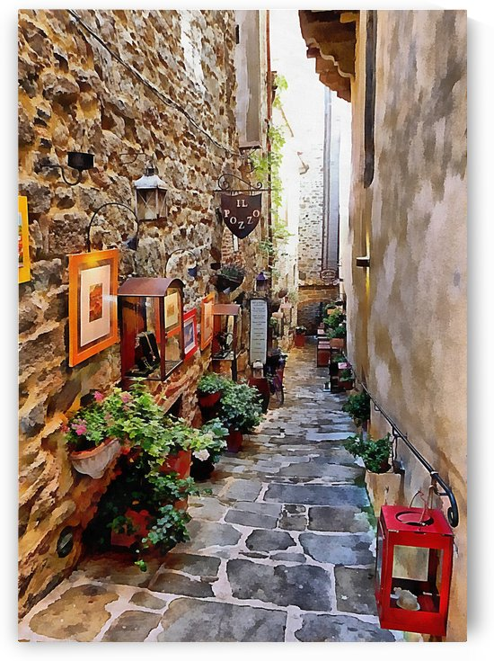 Ornate Passageway Cortona by Dorothy Berry-Lound