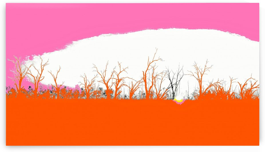 Lake Sunset - Pink by Lexa Harpell
