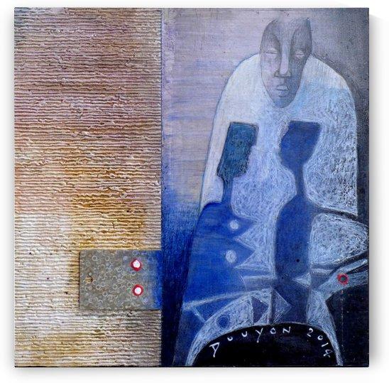 blue horserider 3 by Marie-Denise Douyon