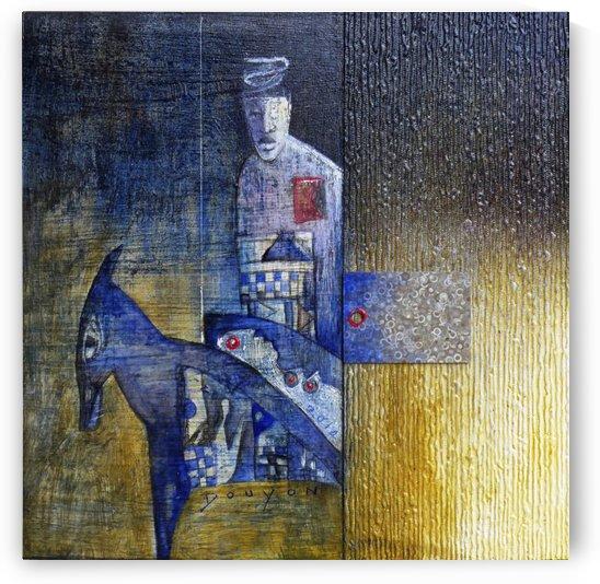 blue horserider 2 by Marie-Denise Douyon