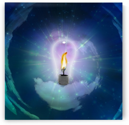 Light Bulb with Flame by Bruce Rolff