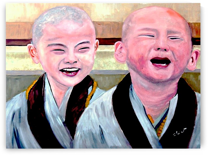 AS - Baby Monks by Clement Tsang