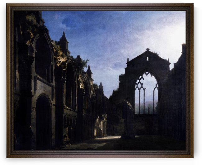 The Ruins of Holyrood Chapel by Louis Daguerre by xzendor7
