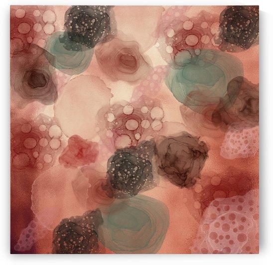 Multicolor coppery Abstract  by Gabriella David