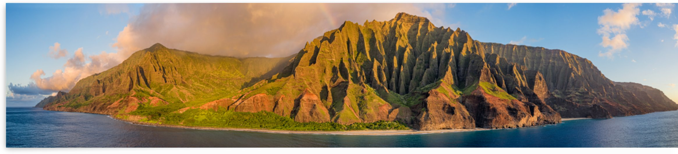 Kalalau Panorama from Ocean by Dave Tonnes