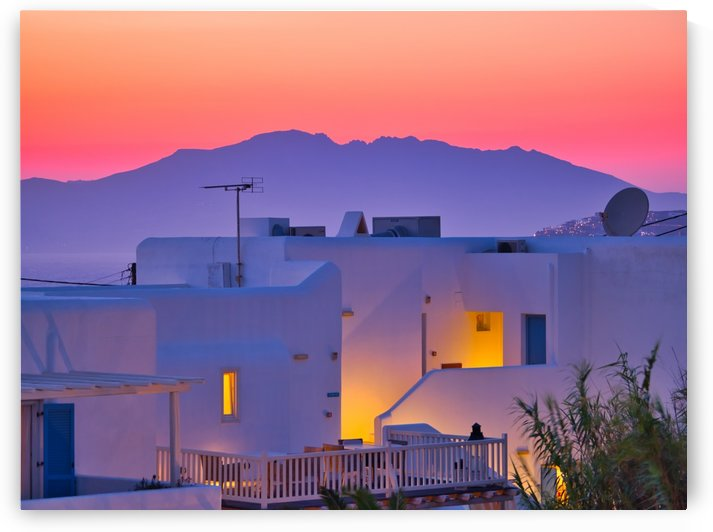 Breathtaking sunset at exotic city with white plain buildings 3 by Pixelme ca