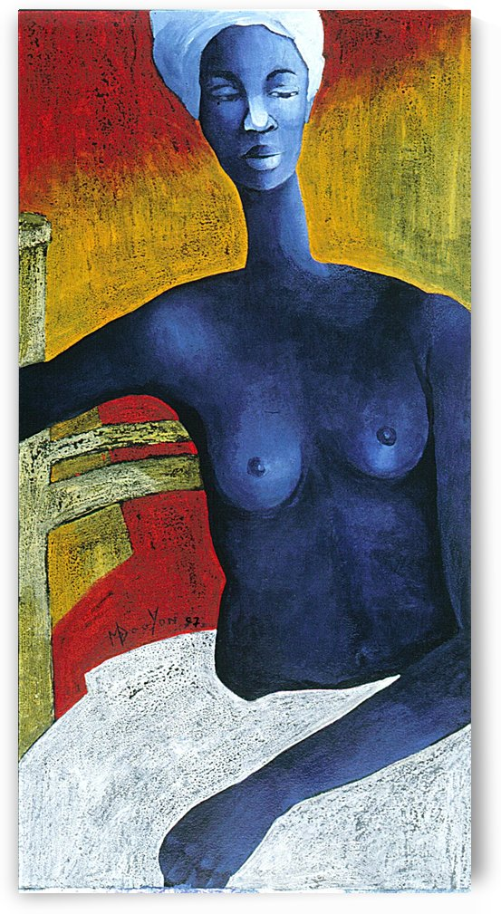 Blue Nude Woman by Marie-Denise Douyon