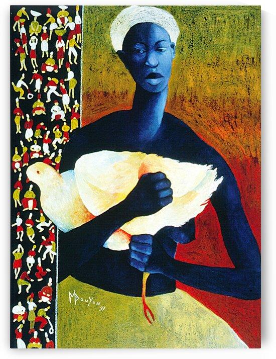 Femme à loiseau blanc by Marie-Denise Douyon